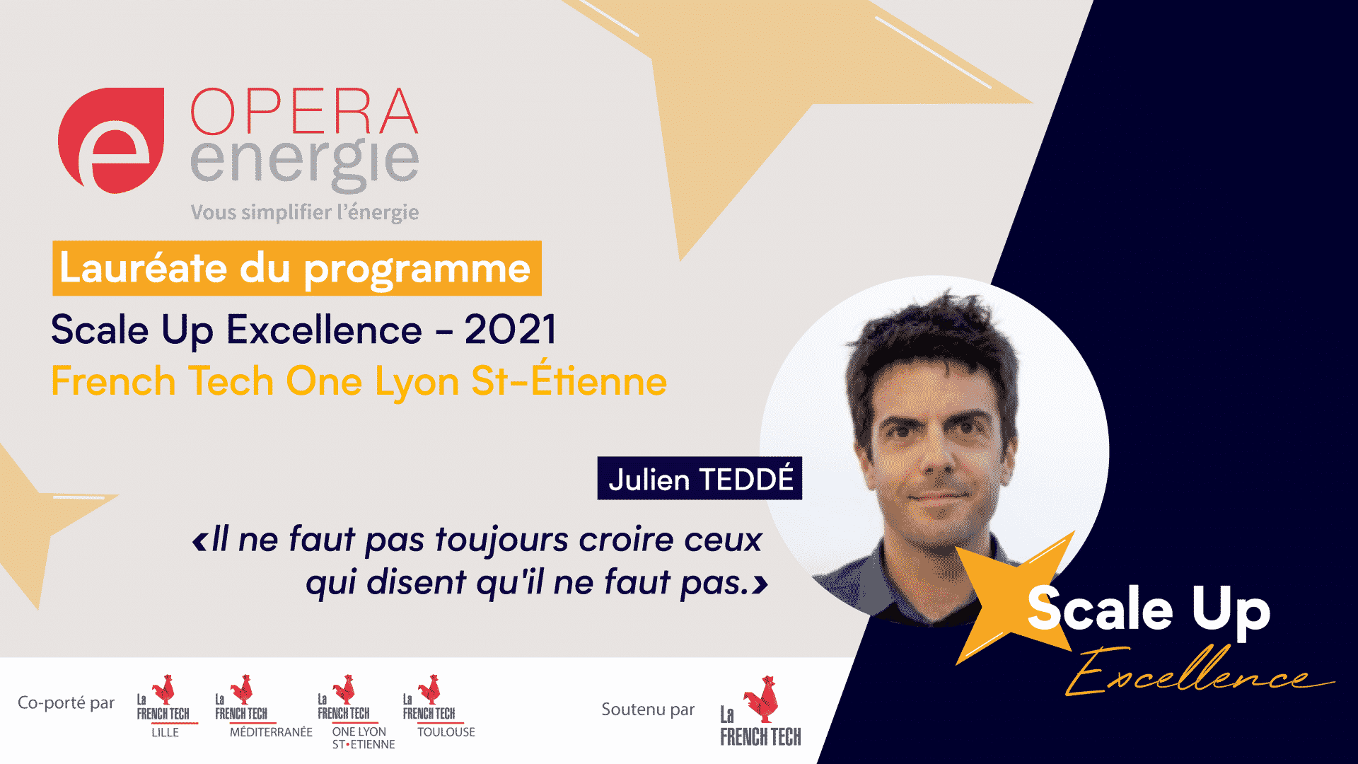 OPERA ENERGIE laureat du Scale-Up Excellence