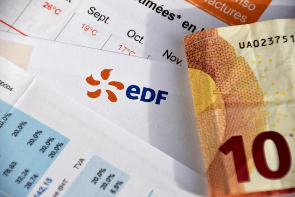 facture edf billet dix euros